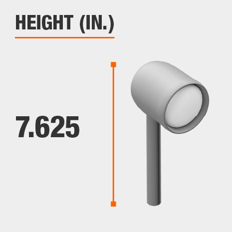 This light's height is 7.625 inches.