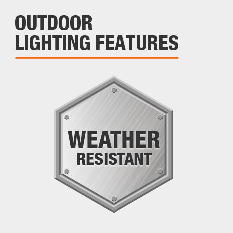This light is weather-resistant.