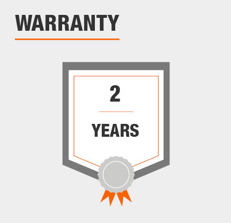This transformer comes with a 2 year warranty.