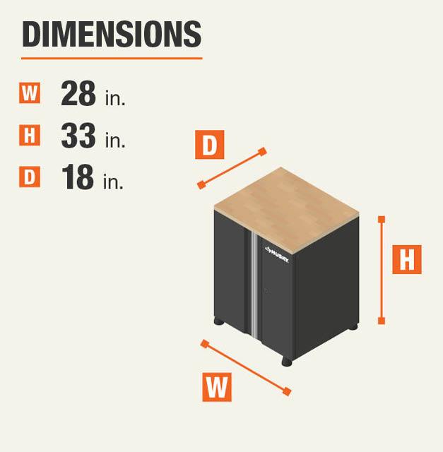 28 in. W x 32 in. H x 18 in. D Garage Cabinet