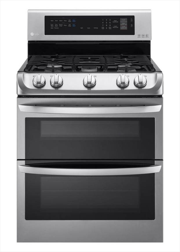 Superb Lg Electronics 6 9 Cu Ft Double Oven Gas Range With Probake Convection Oven Self Clean And Easyclean In Stainless Steel Download Free Architecture Designs Itiscsunscenecom