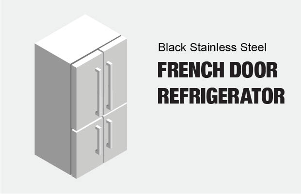 Samsung 22 5 cu  ft  French Door Refrigerator in Fingerprint Resistant  Black Stainless