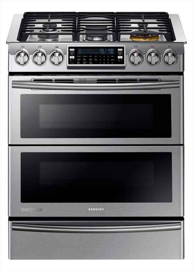 Samsung 30 In 5 8 Cu Ft Slide In Dual Door Double Oven