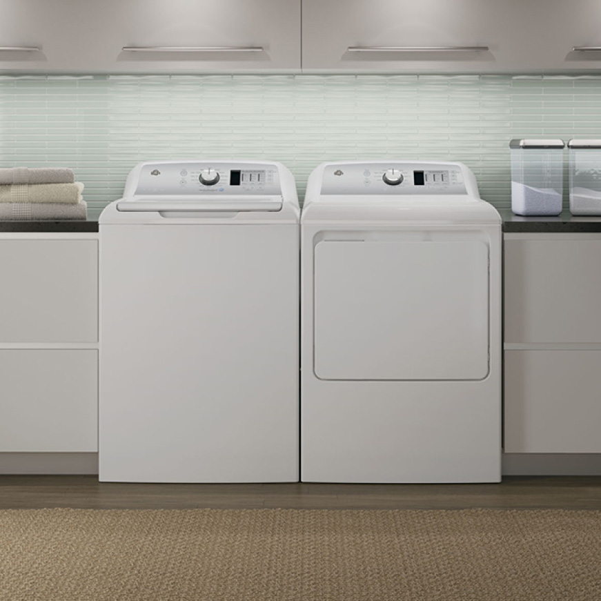 GE 4 6 cu  ft  High-Efficiency White Top Load Washing Machine, ENERGY STAR