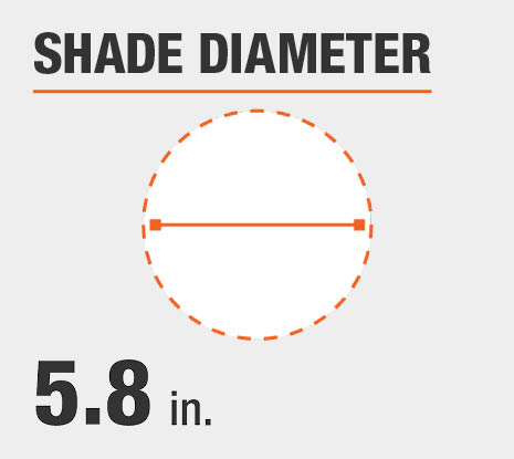 Shade Diameter: 5.80 in.