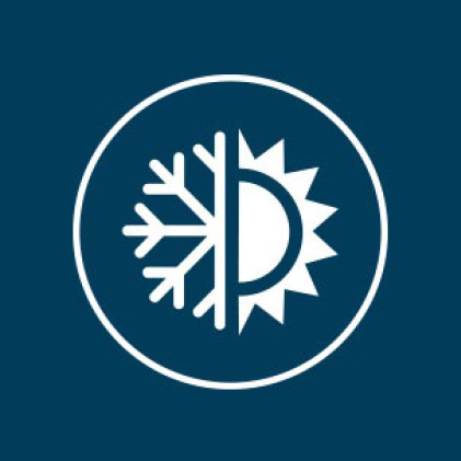 Icon illustrating energy efficiency to keep home cooler in summer and warmer in winter