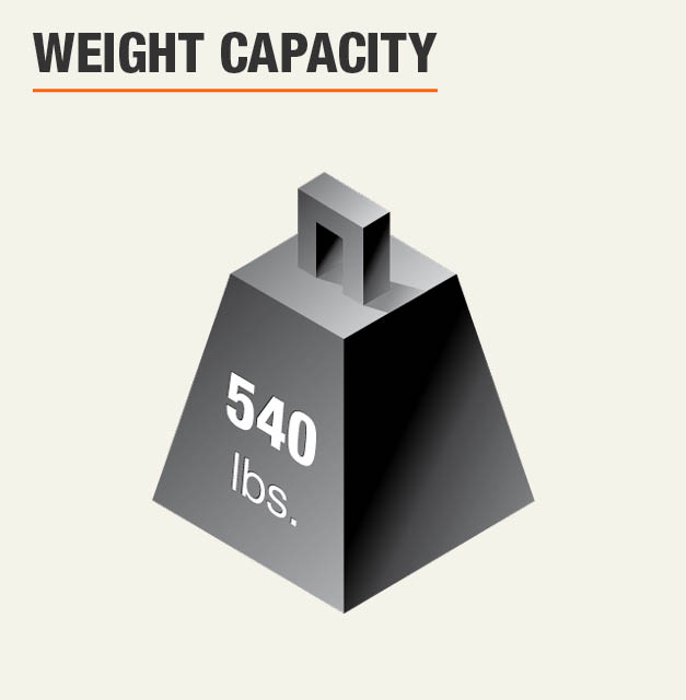 Weight Capacity 540 lbs.