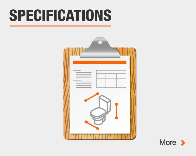 glacier bay toilet specifications