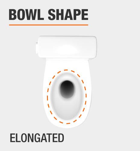 glacier bay elongated toilet bowl shape