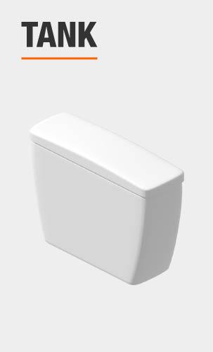 glacier bay toilet tank included