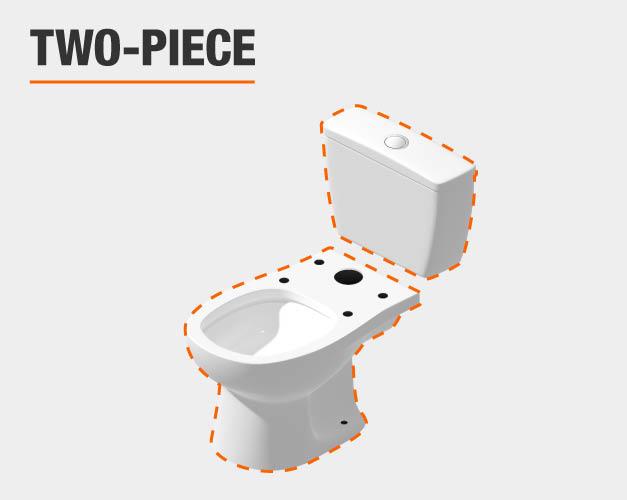 glacier bay two piece toilet