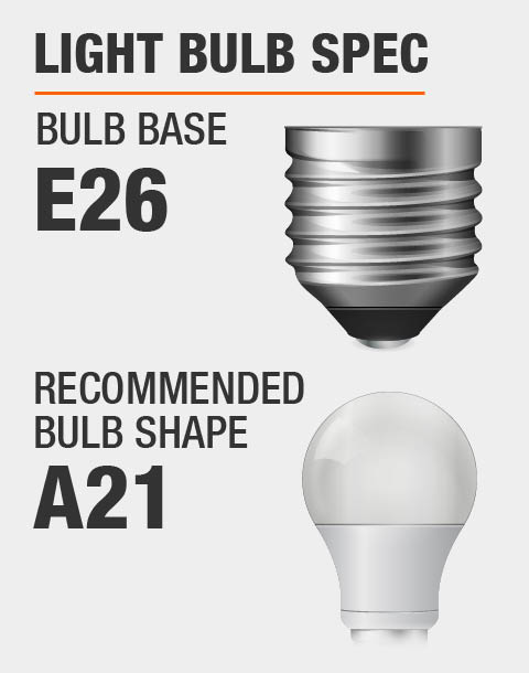E26 Base A21 Bulb Recommended