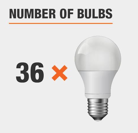 This light has 36 bulbs.