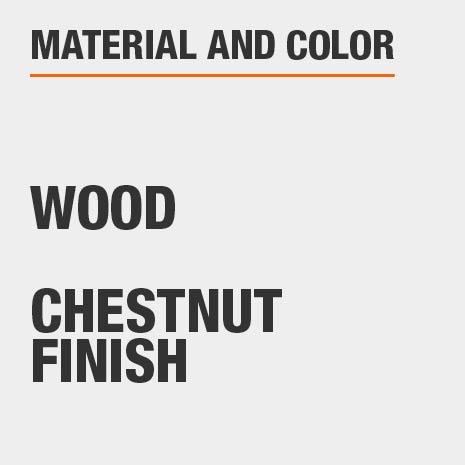 Chestnut Finish Wood Computer Desk