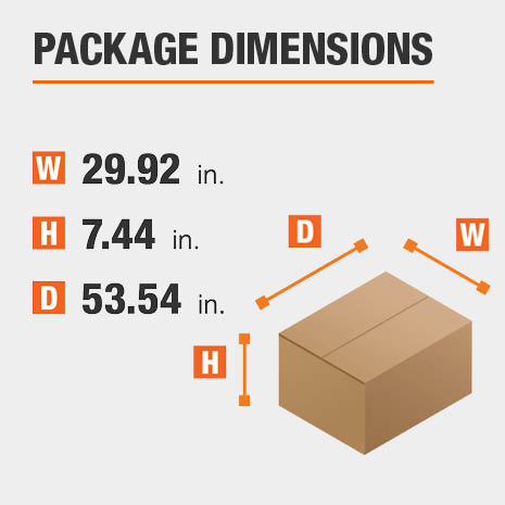 Computer Desk Package Dimensions 29.92 inches wide 53.54 inches high