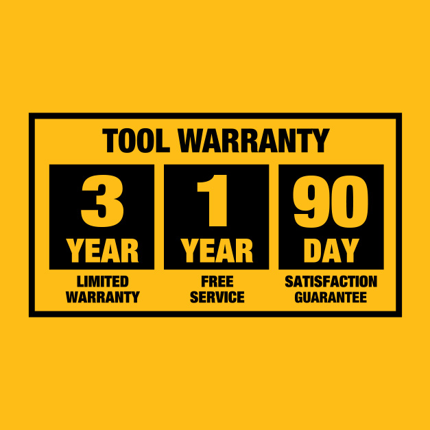 3-Year limited warranty, 1 year free service and 90-day money back guarante.