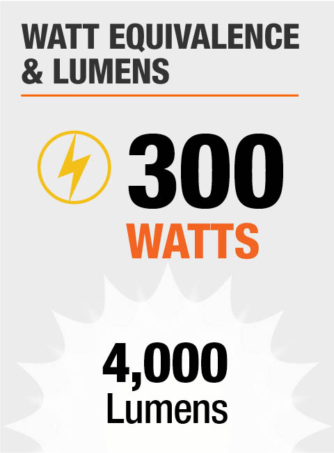 Equivalent Light A23 Bulb Daylight Feit Electric Utility 300 Watt Cob Corn Led Lumen High sdthrQ