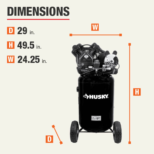 Husky 30 Gal 155 Psi Ultra Quiet Portable Electric Air