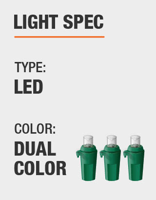 Light type and bulb color - GE 7.5 Ft. Pre-Lit LED Indoor Just Cut Deluxe Aspen Fir Artificial