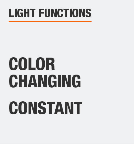 The light functions are color changing and constant