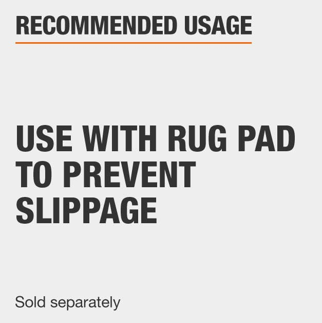 Use Rug Pad with area rug that is sold separately
