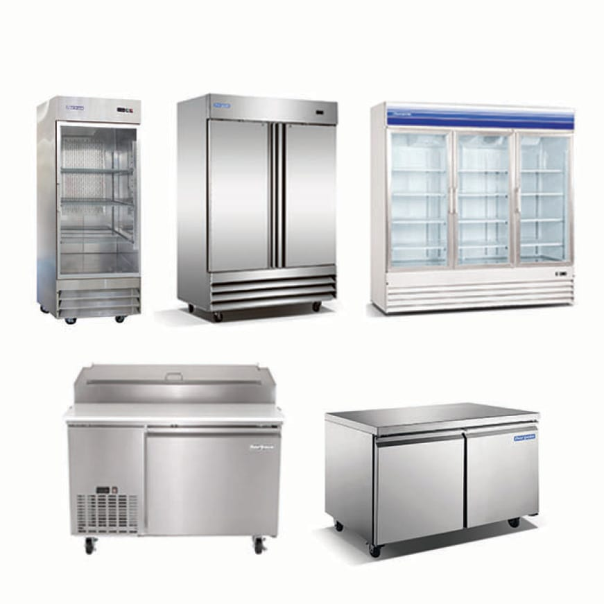 Norpole commercial refrigerators and freezers come in a variety of sizes