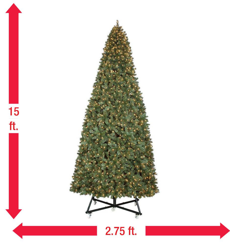 15 Ft Pre Lit Led Wesley Pine Artificial Christmas Tree X 6558 Tips