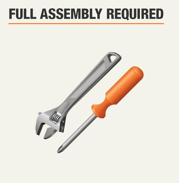Full assembly required for steel shelf insert