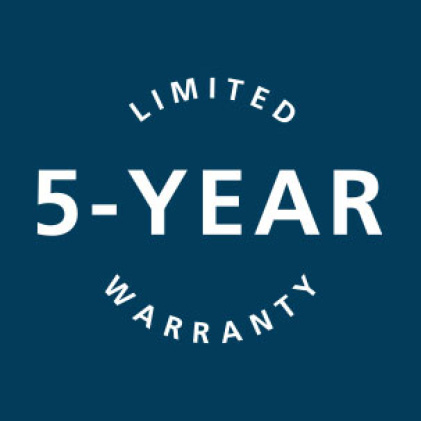 Icon of 5-year limited warranty associated to Moda doors