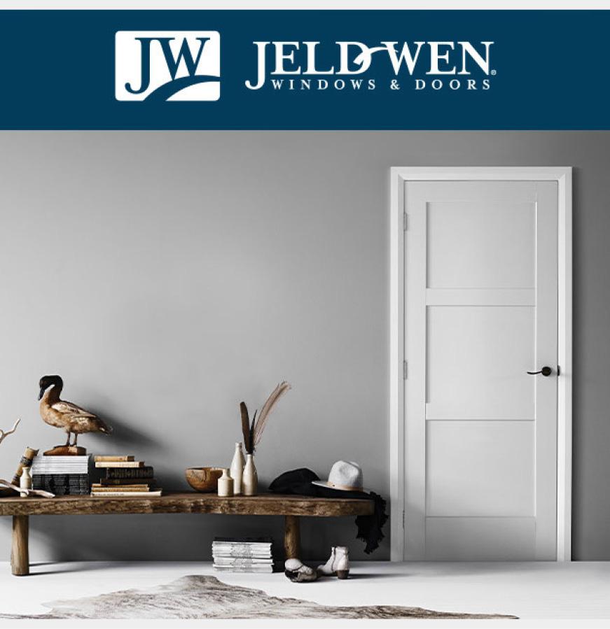 Interior view of 3 Panel Moda white door
