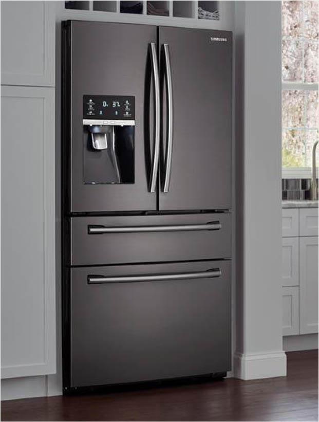 Samsung 33 In W 24 73 Cu Ft French Door Refrigerator In