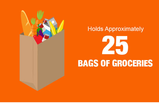 Hold Approximately 25 bags of groceries