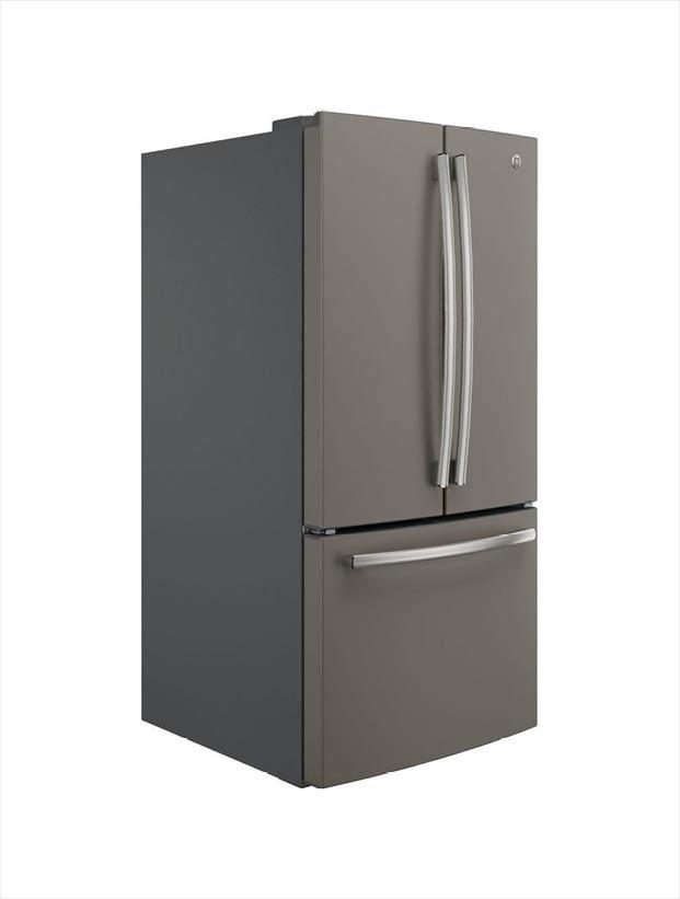ge 24 7 cu ft french door refrigerator in slate fingerprint rh homedepot com