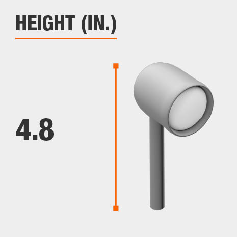 This light has a height of 4.8 inches.