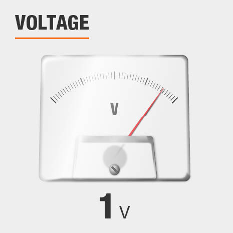 This light has a voltage of 1v.