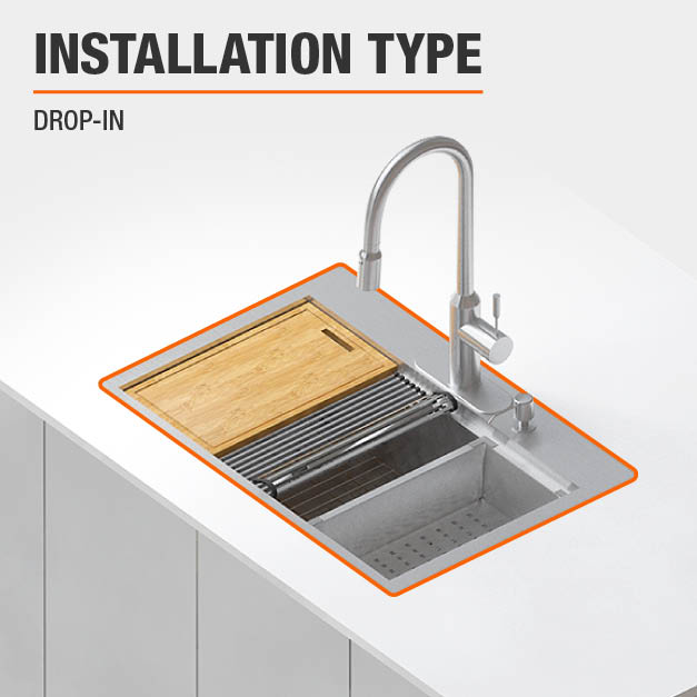 Sink Installation Type Drop-in