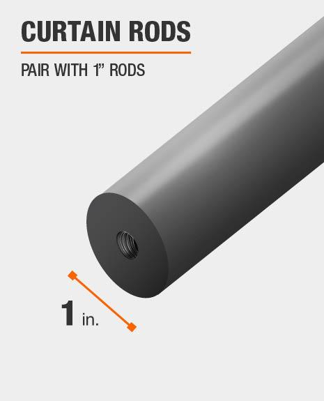 Ceiling Brackets for 3//4 inch Rod Satin Nickel A/&F Rod D/écor