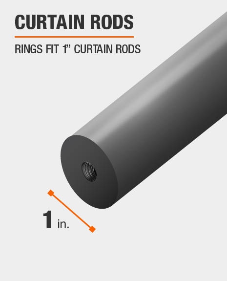 Curtain rod clip rings fix 1 inch curtain rods