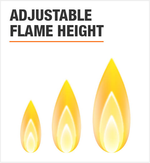 Adjustable Flame Height