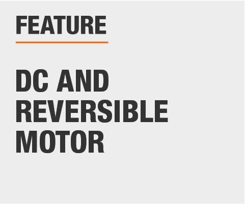 DC and reversible motor
