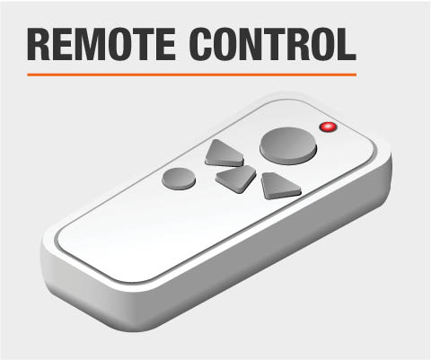 Ceiling fan control type remote control