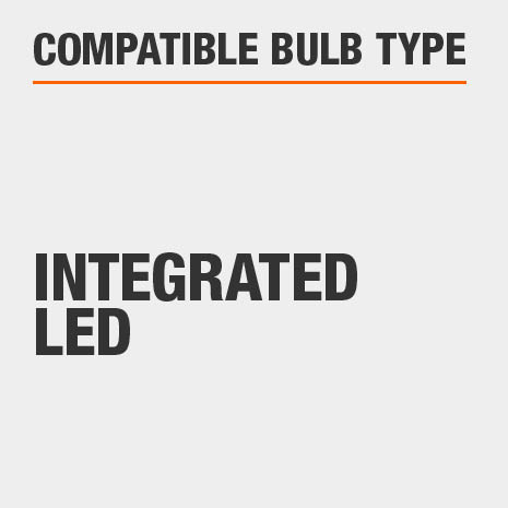 This light includes integrated LED bulbs.