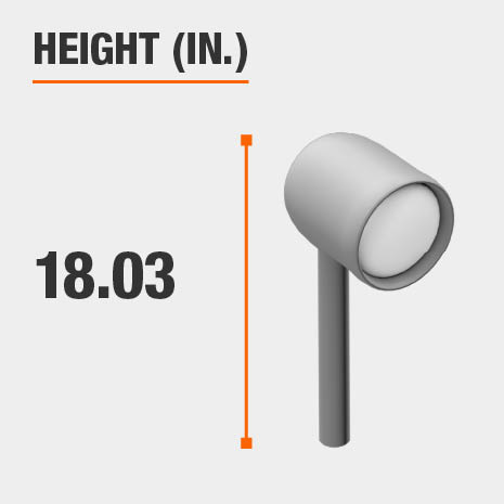 This light's height is 18.03 inches.