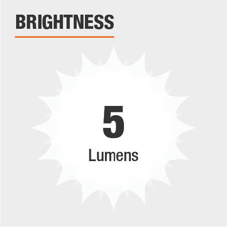 This light's brightness is 5 Lumens.