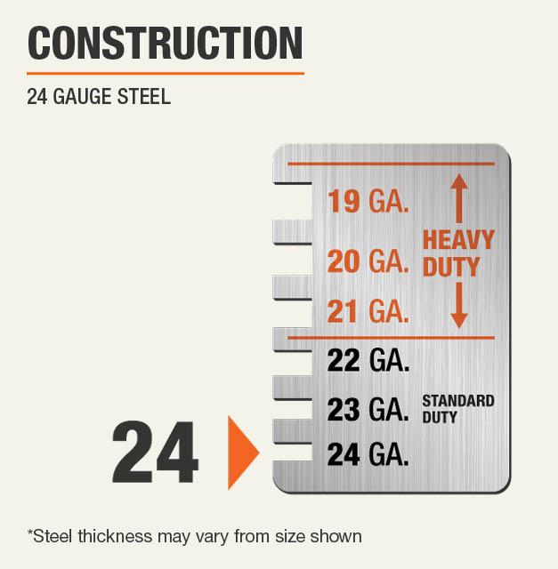 24 Gauge Steel Construction
