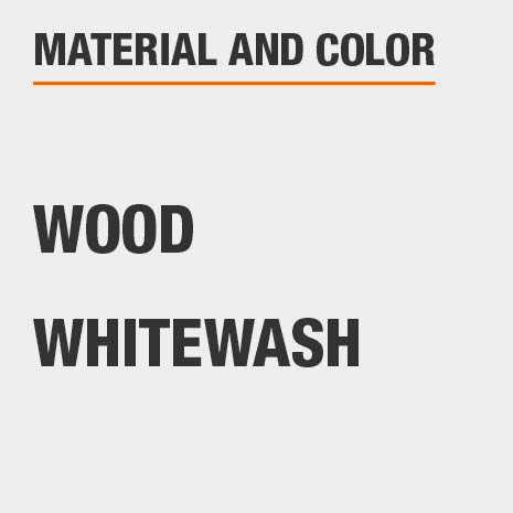 Wood Whitewash Nightstand