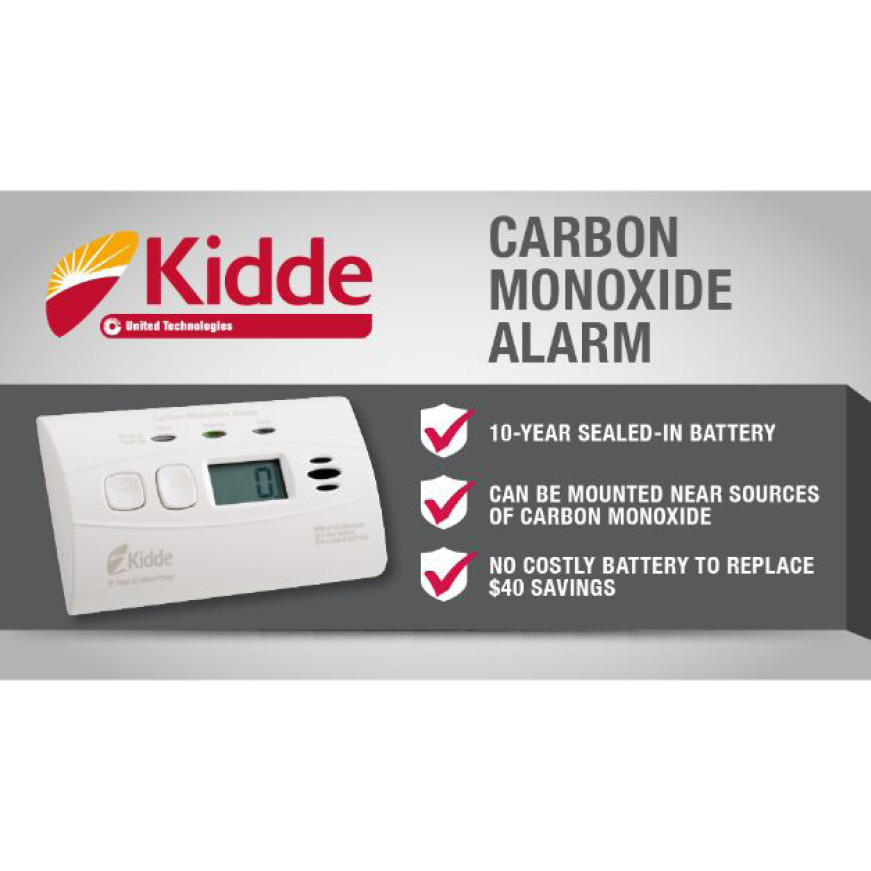 Sealed Lithium Battery Powered CO Alarm