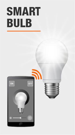 tp link 50 watt smart wi fi led bulb with energy monitoring lb100 the home depot. Black Bedroom Furniture Sets. Home Design Ideas