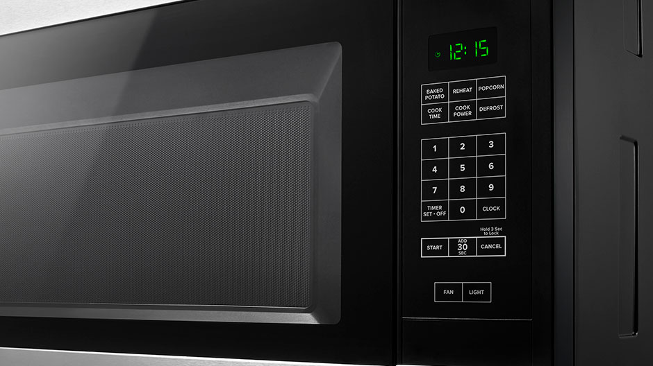 Amana 1 6 Cu Ft Over The Range Microwave In Stainless