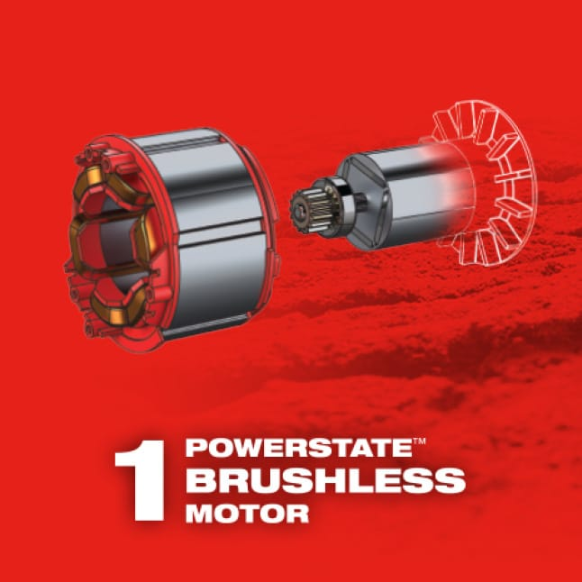 M18 FUEL brushless motor power tools maximize efficiency and lifespan